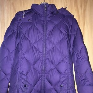 Burberry Quilted Down Puffer Coat.